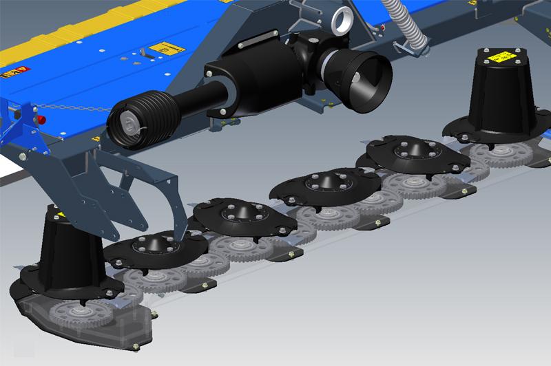 устройство режущего блока косилки Rotex